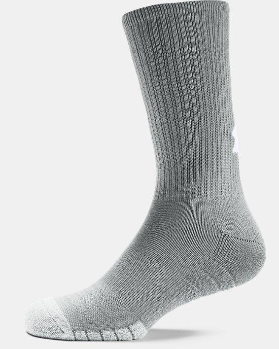 Adult HeatGear® Crew Socks 3-Pack, Gray, pdpMainDesktop image number 4