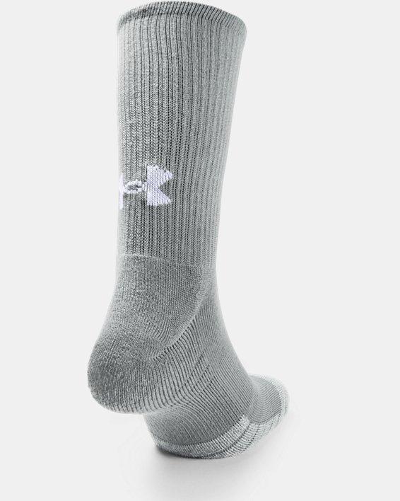 Adult HeatGear® Crew Socks 3-Pack, Gray, pdpMainDesktop image number 3