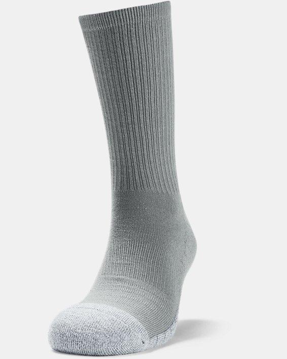 Adult HeatGear® Crew Socks 3-Pack, Gray, pdpMainDesktop image number 2