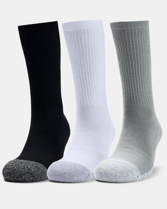 Adult HeatGear® Crew Socks 3-Pack, Gray, pdpMainDesktop image number 0