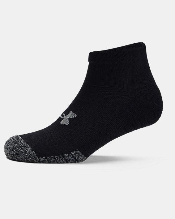 3paires de chaussettes basses HeatGear® Lo Cut pour adulte, Black, pdpMainDesktop image number 4