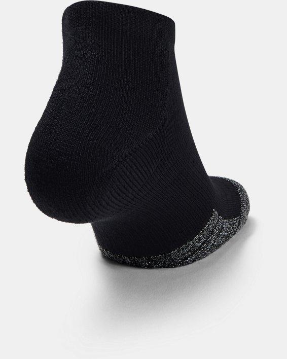 3paires de chaussettes basses HeatGear® Lo Cut pour adulte, Black, pdpMainDesktop image number 3