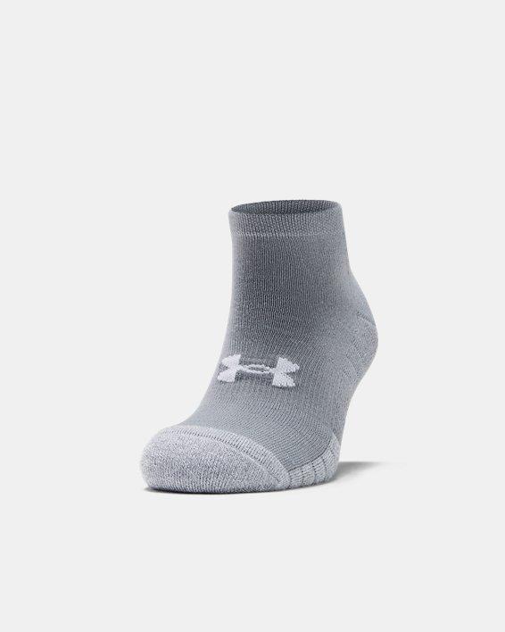 Adult HeatGear® Lo Cut Socks 3-Pack, Gray, pdpMainDesktop image number 2