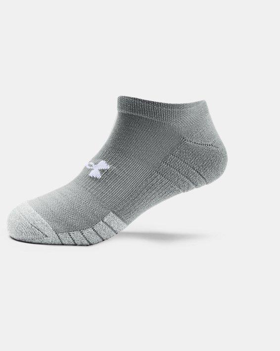 Adult HeatGear® No Show Socks 3-Pack, Gray, pdpMainDesktop image number 4