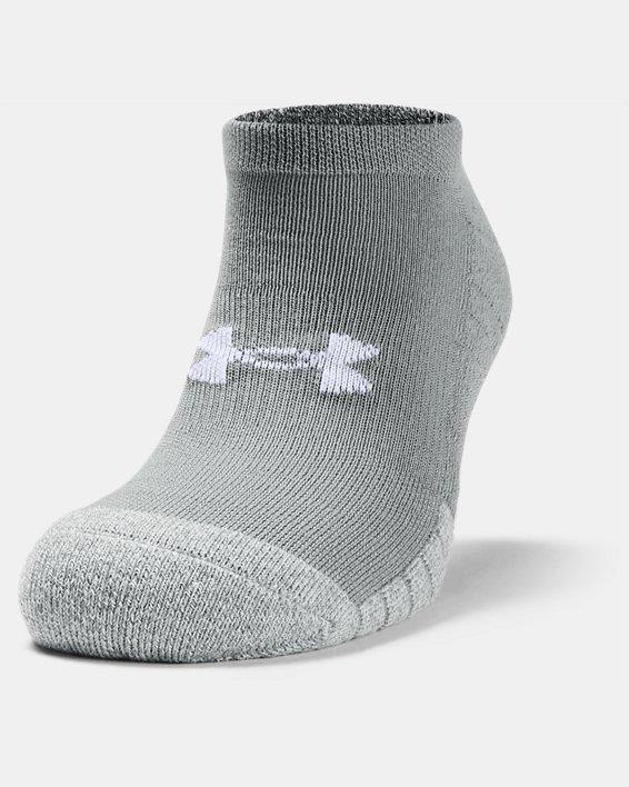 Adult HeatGear® No Show Socks 3-Pack, Gray, pdpMainDesktop image number 2
