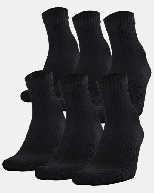 Unisex UA Training Cotton Quarter 6-Pack Socks