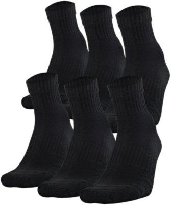 Youth UA Training Cotton Quarter – 6-Pack Socks | Under Armour