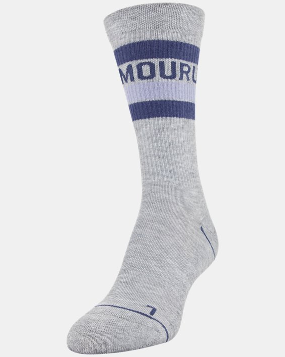 Women's UA Phenom Crew Socks 3-Pack, Navy, pdpMainDesktop image number 1