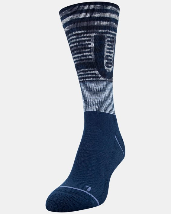 Women's UA Phenom Crew Socks 3-Pack, Navy, pdpMainDesktop image number 3