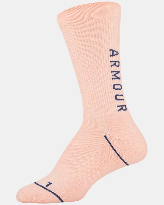 Women's UA Phenom Crew Socks 3-Pack, Navy, pdpMainDesktop image number 8