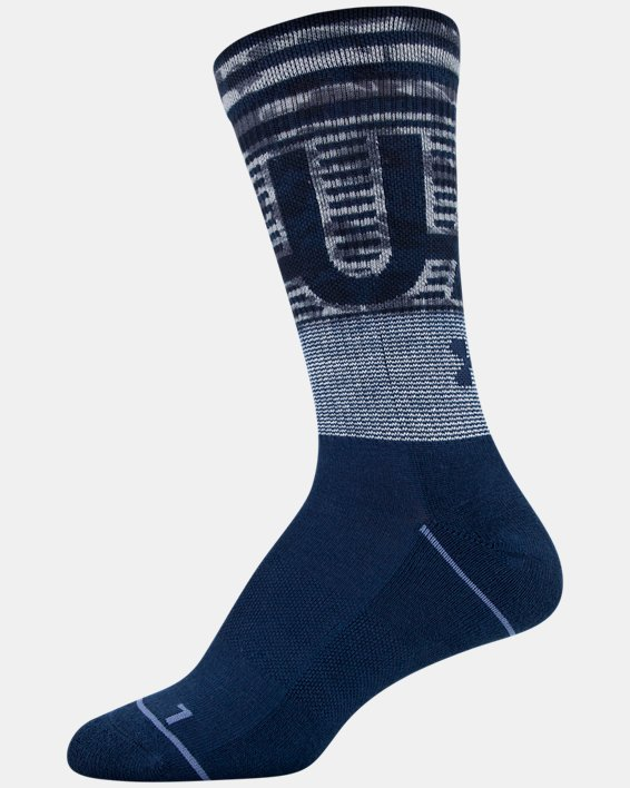 Women's UA Phenom Crew Socks 3-Pack, Navy, pdpMainDesktop image number 9