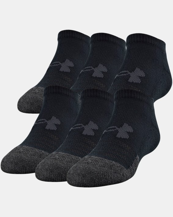 Kids' UA Performance Tech No Show Socks – 6-Pack, Black, pdpMainDesktop image number 0