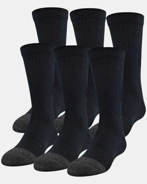 Kids' UA Performance Tech Crew Socks – 6-Pack