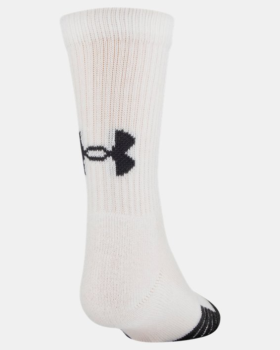 Kids' UA Performance Tech Crew Socks – 6-Pack, White, pdpMainDesktop image number 2