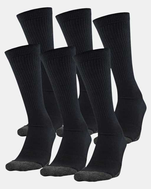 Adult UA Performance Tech Crew Socks – 6-Pack