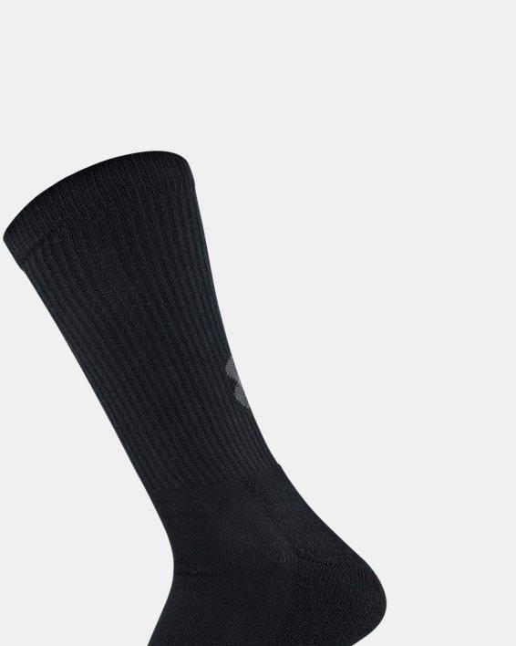 Adult UA Performance Tech Crew Socks – 6-Pack, Black, pdpMainDesktop image number 3