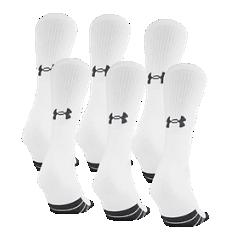 UA Charged Cotton® 2.0 Quarter Length Socks 6 Pack | Under