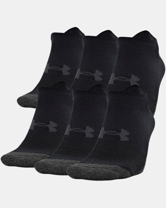 Adult UA Performance Tech No Show Socks 6-Pack, Black, pdpMainDesktop image number 0