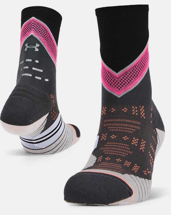 Women's UA x Stance Infinite Run Crew Socks, Gray, pdpMainDesktop image number 0