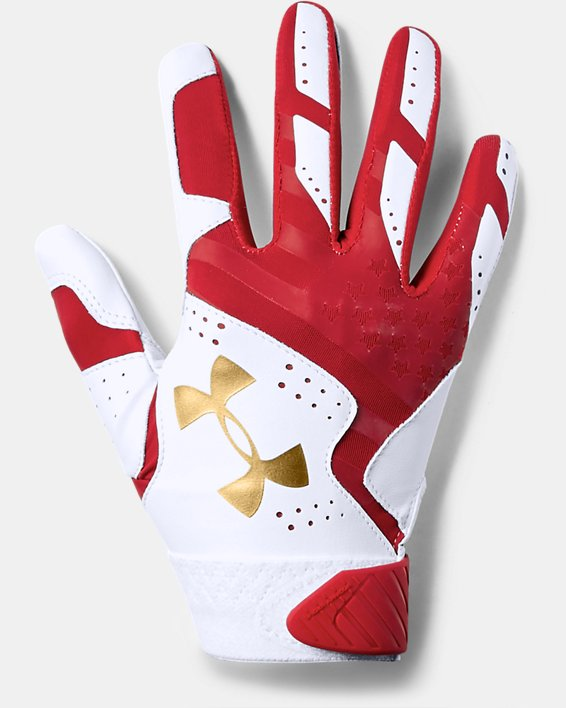 Women's UA Radar Stars & Stripes Softball Gloves, White, pdpMainDesktop image number 0