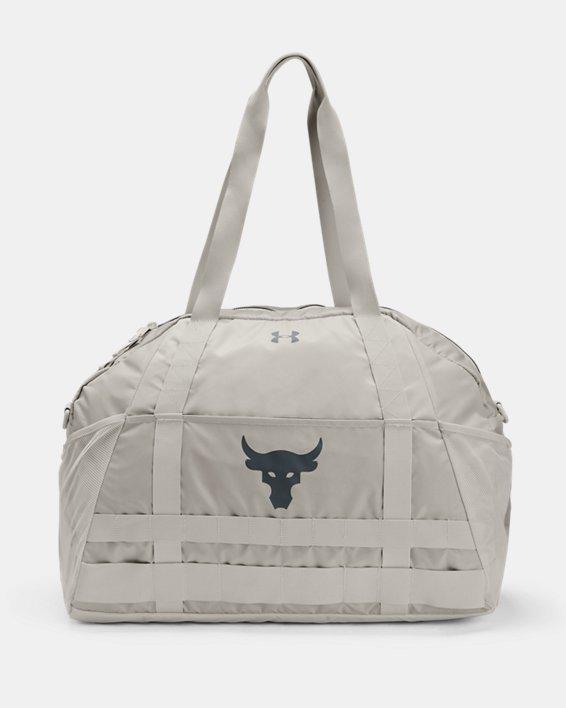 Women's Project Rock Gym Bag, White, pdpMainDesktop image number 1
