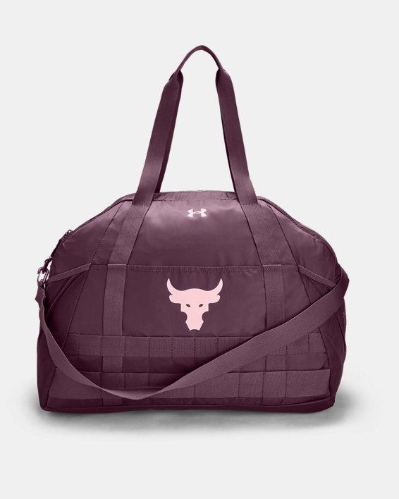 Women's Project Rock Gym Bag, Purple, pdpMainDesktop image number 0