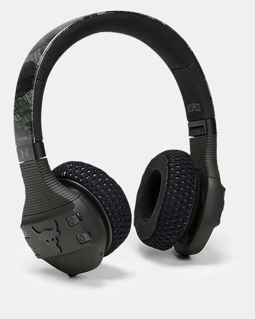 UA Sport Wireless Train Headphones — Project Rock Edition Camo