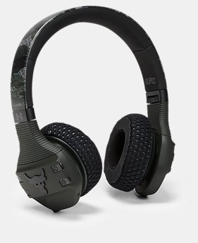 New Arrival UA Sport Wireless Train Headphones — Project Rock Edition Camo  1  Color Available $249.95