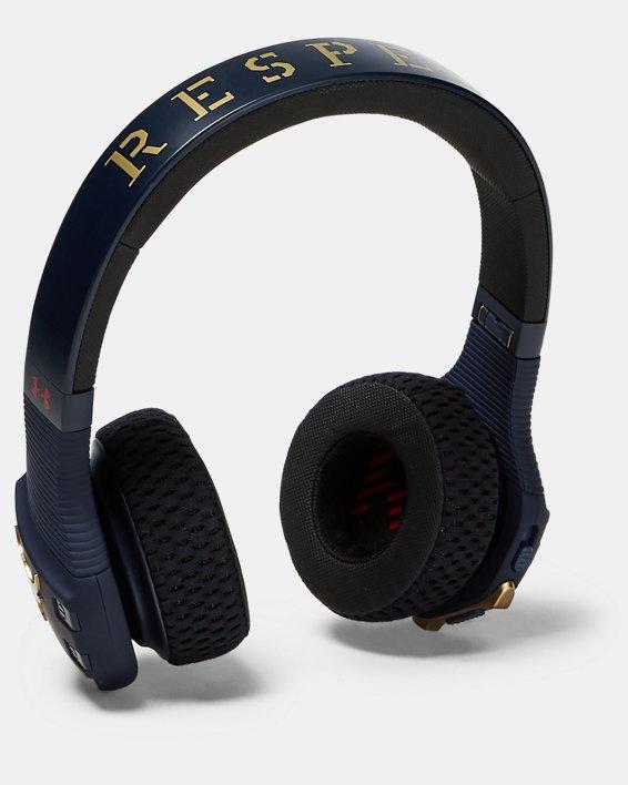 언더아머 Under Armour UA Sport Wireless Train Headphones — Project Rock Edition Camo,Midnight Navy / Gold / Gold - 410
