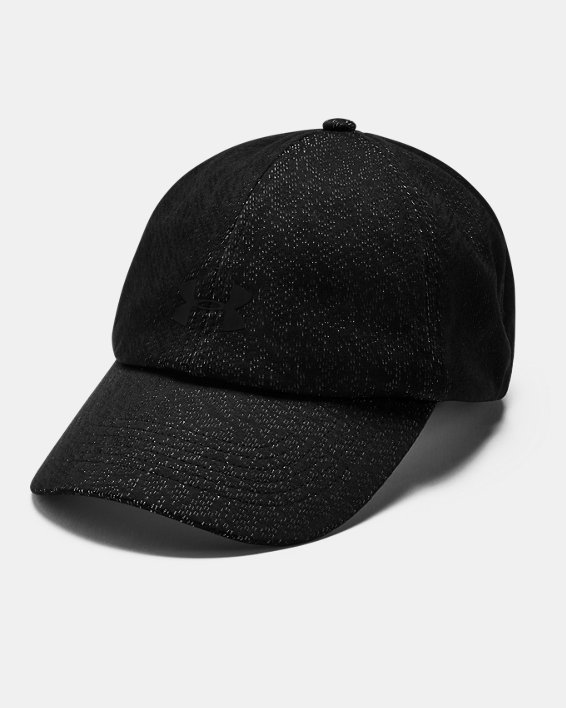 Women's UA Play Up Jacquard Cap, Black, pdpMainDesktop image number 0