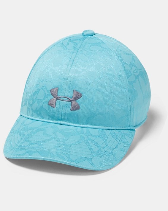 Girls' UA Play Up Cap, Blue, pdpMainDesktop image number 0