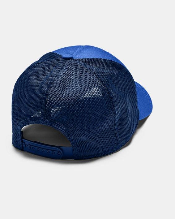Men's UA Armour Twist Trucker Cap, Blue, pdpMainDesktop image number 1