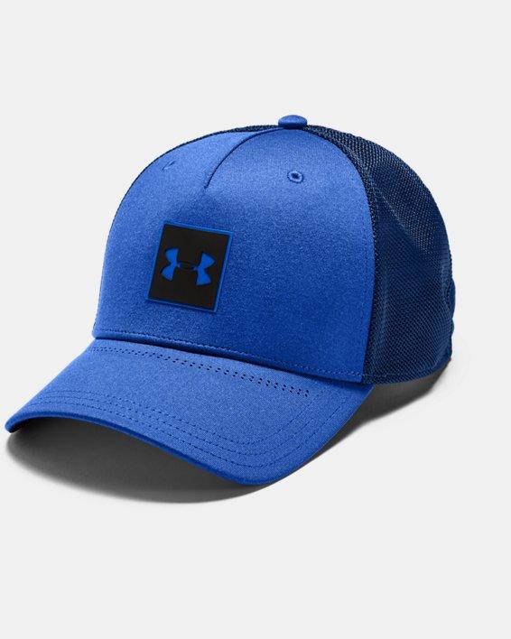Men's UA Armour Twist Trucker Cap, Blue, pdpMainDesktop image number 0