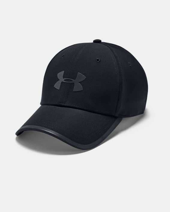 Men's UA Iso-Chill Run Structured Cap, Black, pdpMainDesktop image number 0