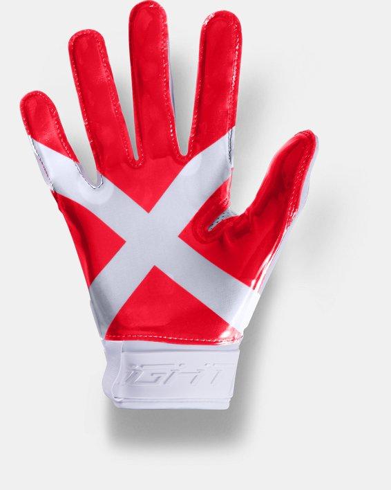 Men's UA Spotlight Ultra Tack Football Gloves, White, pdpMainDesktop image number 1