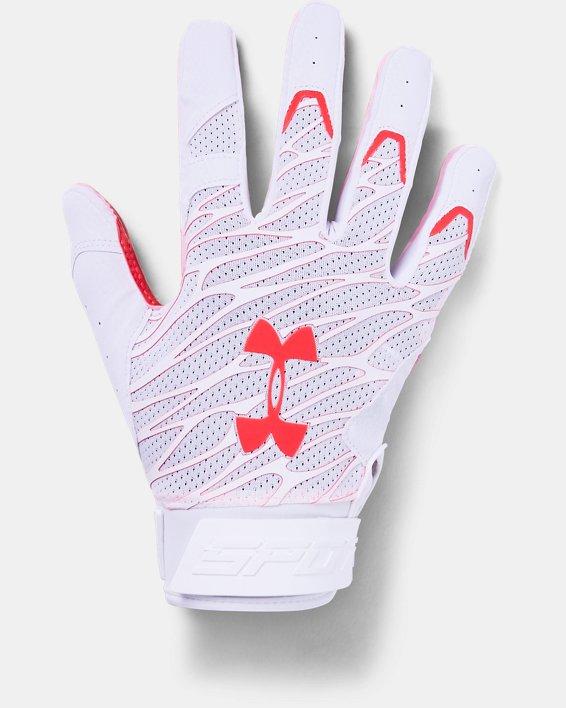 Men's UA Spotlight Ultra Tack Football Gloves, White, pdpMainDesktop image number 0