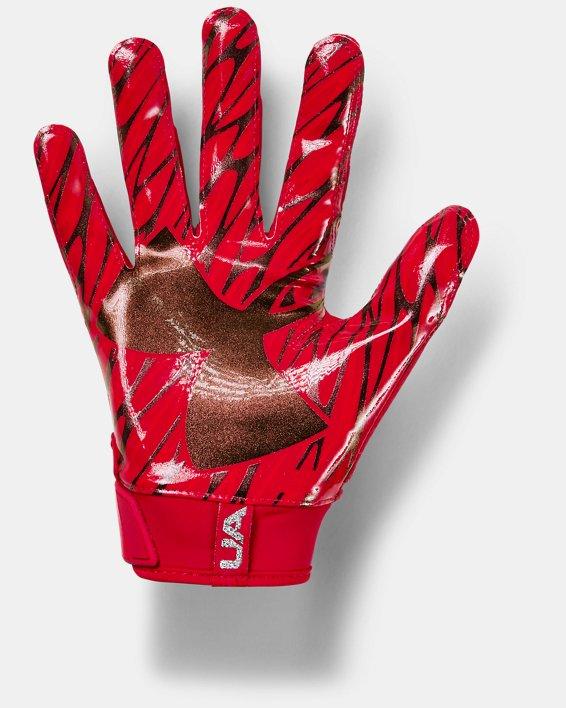 Men's UA Spotlight Football Gloves, Red, pdpMainDesktop image number 1