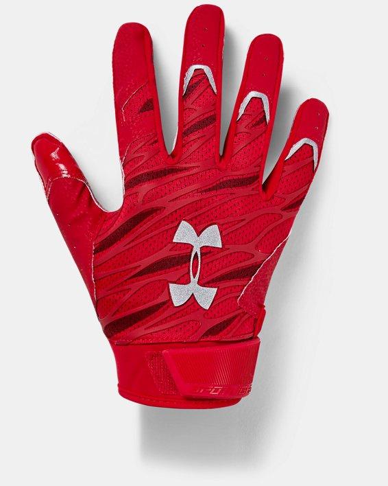 Men's UA Spotlight Football Gloves, Red, pdpMainDesktop image number 0