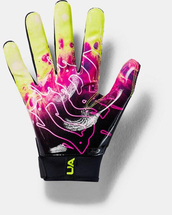 Men's UA Spotlight LE Football Gloves, Black, pdpMainDesktop image number 1