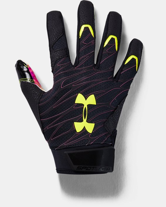 Men's UA Spotlight LE Football Gloves, Black, pdpMainDesktop image number 0