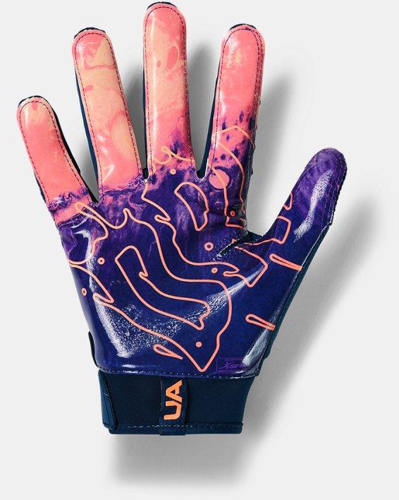 Men's UA Spotlight LE Football Gloves, Navy, pdpMainDesktop image number 1