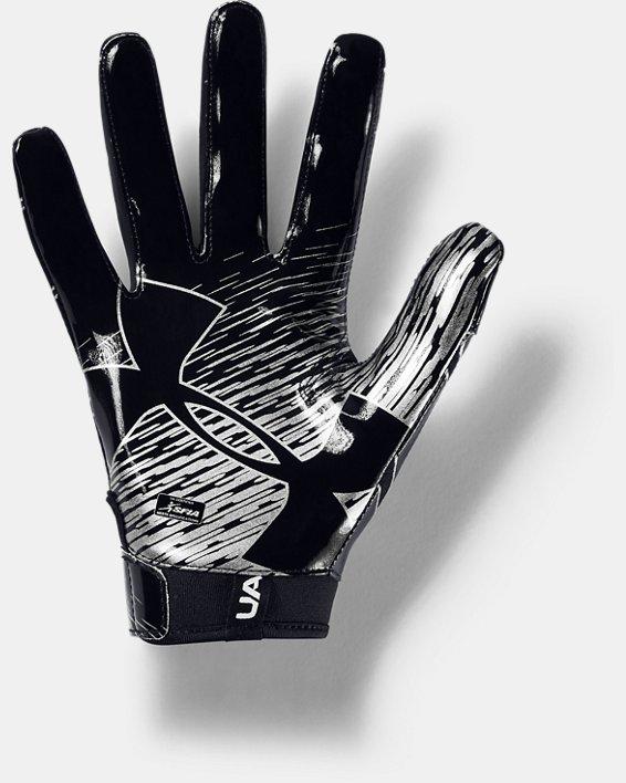 Men's UA F7 Football Gloves, Black, pdpMainDesktop image number 1