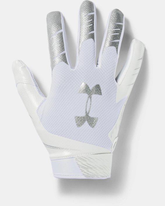 Men's UA F7 Football Gloves, White, pdpMainDesktop image number 0