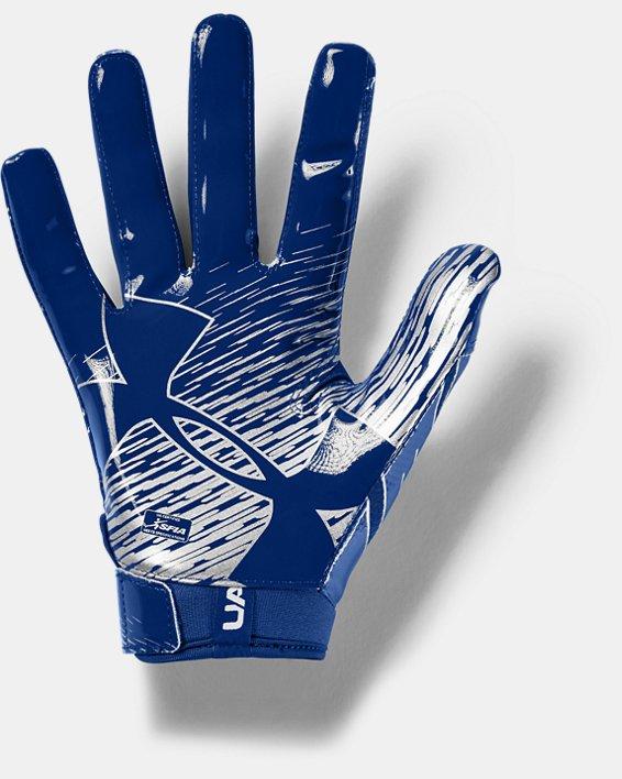 Men's UA F7 Football Gloves, Blue, pdpMainDesktop image number 1
