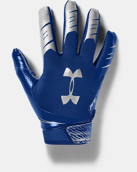 Men's UA F7 Football Gloves, Blue, pdpMainDesktop image number 0