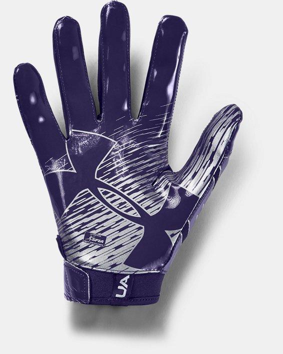Men's UA F7 Football Gloves, Purple, pdpMainDesktop image number 1