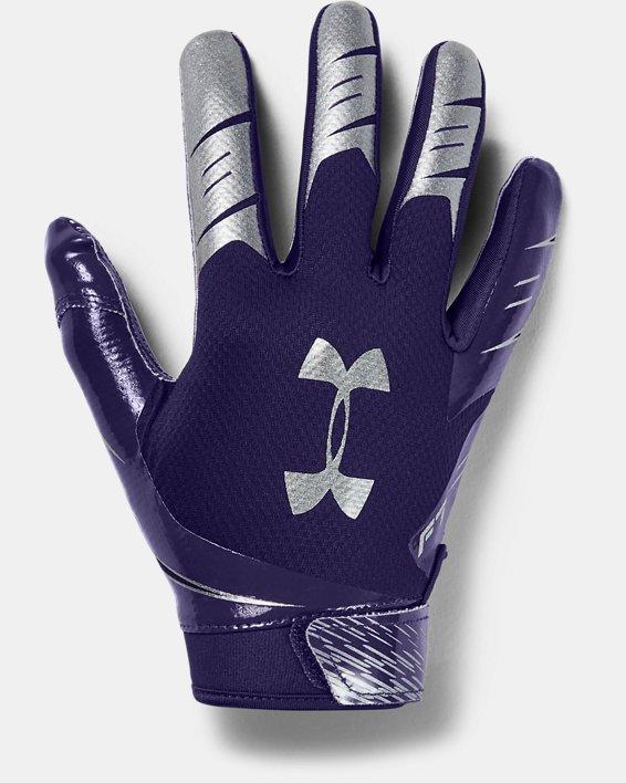 Men's UA F7 Football Gloves, Purple, pdpMainDesktop image number 0