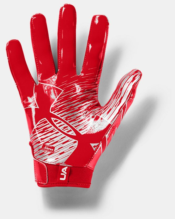 Men's UA F7 Football Gloves, Red, pdpMainDesktop image number 1