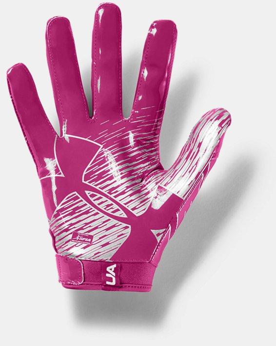 Men's UA F7 Football Gloves, Pink, pdpMainDesktop image number 1