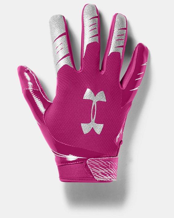 Men's UA F7 Football Gloves, Pink, pdpMainDesktop image number 0